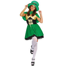 SEXY LEPRECHAUN LADIES FANCY DRESS ST PATRICK'S DAY IRISH GIRL GREEN COSTUME