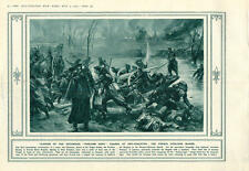 1915 Dry-grachten French Fusiliers Marins Charge Wounded French Captain Decorate