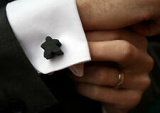 Black Carcassonne Meeple Cufflinks