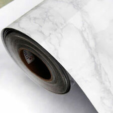 "Grey Marble Contact Paper Wallpaper Self Adhesive Gloss Cupboard Cover 24""x39"""