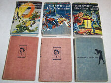 Tom Swift, Cherry Ames & Nancy Drew ~ Lot of 6 Vintage Hardcover Books c.1944-19