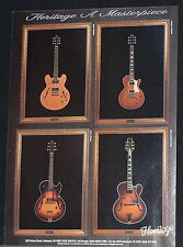 1996 Heritage H-575, H-535, H-150cm, Golden Eagle guitars photo print Ad