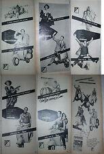 ADVERTISING PUBBLICITà VESPA Piaggio 1959 Modugno Fangio Gassman Bosè Belafonte