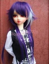 "7-8"" 1/4 BJD hair Mini Super Dollfie MSD Long Wig Violet Blue DL AOD DK DZ Volks"