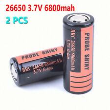 2x 26650 3.7V 6800mah Rechargeable Li-ion Battery For Flashlight Torch Lamps New