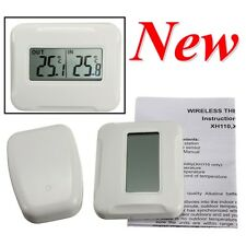 Indoor/Outdoor Digital LCD Wireless Thermometer Temperature Sensor Gauge 433MHz