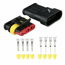 5 Kit 4 Pin Way Waterproof Electrical Wire Connector Plug New