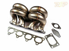 T3 Turbo 3mm Pipe Stainless Steel Ram Horn Manifold Fits Honda Civic D15 D16