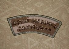 British Royal Marines Commando DPM Multicam Shoulder Flash Embroidered Patch