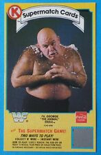 1987 Circle K Coca-Cola GEORGE The Animal STEELE Wrestling Card WWF Supermatch