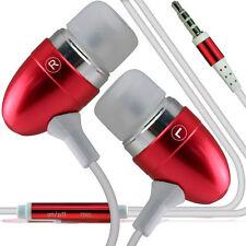 Double Paquet Rouge Mains-libres Écouteurs Avec Micro Pour Samsung Galaxy Note 4