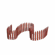 CHRISTMAS VILLAGE HOUSE ACCESSORIES - LEMAX #64144 WIRED WOODEN FENCE