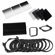 Complete ND 2 4 8 16 Filter Kit for Cokin P+Square Filter Holder+Adapter+Hood