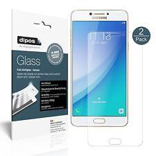 2x Samsung Galaxy C7 Pro Schutzfolie matt - Panzerglas Folie 9H dipos Glass