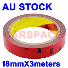 3M Double Sided adhesive Tape 18mm 3meters for Auto Car Truck Usage Dashboard