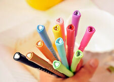 12pc Gel Pen Jelly Love Heart Spot Gem Set Multi Colour Kawaii Diary Deco Ink