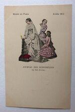 CPA. Modes de Paris. Journal des Demoiselles. 1851. Jeunes Femmes. Petite Fille.