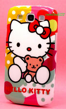 for samsung i9300 galaxy S3 Siii SIII  hard case teddy bear polka dot