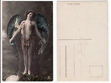 Nackte Frau im Orient Style Engel mit Brustschmuck Girl Nude Angel, RPPC um 1920