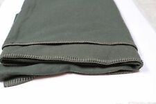 Very Nice British Army Surplus Blanket Wool Blend Dark Green