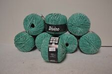 "8 Balls Lana Grossa Divino yarn, 20 sts=4"",122 yds.ea., Cotton & Viscose"