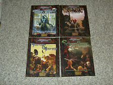 Lot of 4 Scarred Lands Books - D&D 3.0 Compatible - Serpent, Wilderness, Wise