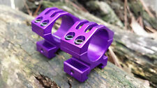 "NEW anodized 1"" scope rings in PURPLE for picatinny or weaver rails! Ruger 10/22"