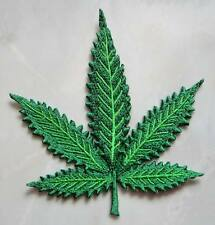 Cannabis Weed Marijuana Hemp Leaf Embroidered Iron on Patch Free Shipping