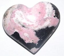 WONDERFUL PERUVIAN RHODONITE STONE CARVED AS A HEART -  ITEM IN USA