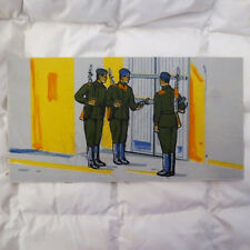 1970s Soviet Russian USSR Military SOLIDER-GUARDS ON DUTY Painting Poster RUSSIA