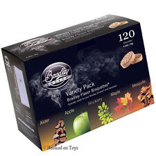 Bradley Variety Pack Smoker Bisquettes 120pcs Alder Apple Hickory Maple Mesquite