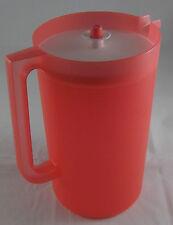 Tupperware Piroschka Saftkanne Kanne für Getränke 4 l Lachs Rot / Weiß Neu OVP