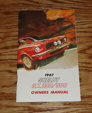 1967 Ford Shelby Cobra GT 350 GT 500 Owners Operators Manual 67