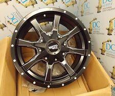 """MOTO METAL MO97078067900 17"""" x 8"""" 106.25 mm SG BLK MILL WHEEL RIM NIB"""