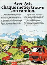 Publicité Advertising 1979  AVIS  location de camions camionnettes du VF2
