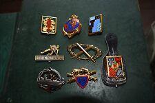 Lot de 8 insigne militaire pucelle armée légion artillerie marine brevet TDM