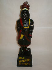 """CIGAR STORE INDIAN CAST IRON COIN BANK """"OLD HONESTY"""" 5 cent Hand Painted 13"""""""