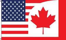 """USA CANADA COMBO"" 3x5ft Flag Polyester united states us"