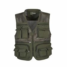 New Men's Multi Pocket Camera Outdoor Travelers Fishing Working Photography Vest