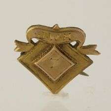Vintage School Pin Class 1907 Antique Collectors Keepsake JWH High School Lapel