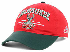 ADIDAS NBA 2 TONE SLOUCH BASKETBALL HAT/CAP - MILWAUKEE BUCKS  - OSFM