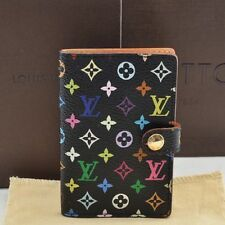 Auth Louis Vuitton Monogram Multicolor Mini Agenda Notebook Cover M92652 #U188 E