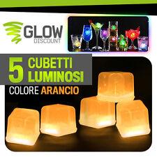 CUBETTI GHIACCIO FLUO LUMINOSO ARANCIO glow starlight bracciali luminosi 15022