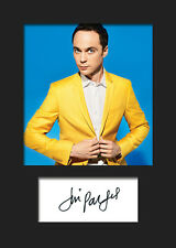 TBBT JIM PARSONS #1 A5 Signed Mounted Photo Print (RePrint) - FREE DELIVERY