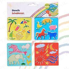4pc Mini matita Stencil Set + Design Assortiti + Bambini Arte / artigianato Regalo di Natale