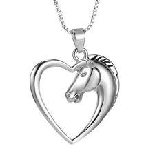 2016 Fashion Jewelry 925 STERLING SILVER HORSE IN CUORE CIONDOLO COLLANA DONNA