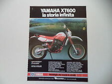advertising Pubblicità 1987 MOTO YAMAHA XT 600 4V 4 VALVES