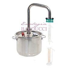 Alambicco Estrattore da 12 L acciaio inox corrente di vapore per erboristeria