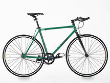 BRAND NEW FIXED GEAR BIKE SINGLE SPEED FREE WHEEL-FIXIE ROAD BIKE -10.5 KG GREEN