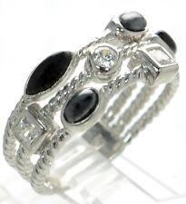 Joseph Esposito Solid 925 Sterling Silver Multi-row Ring Sz-9 '